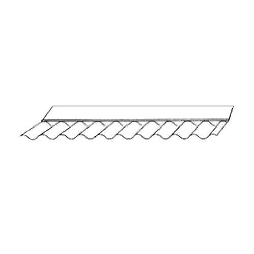Wandanschluss für Wellplatten 76/18 - Acrylglas - 150/65x1045mm