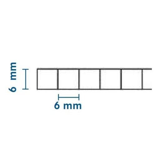 6mm PC Stegplatten - Farblos - WILKULUX®