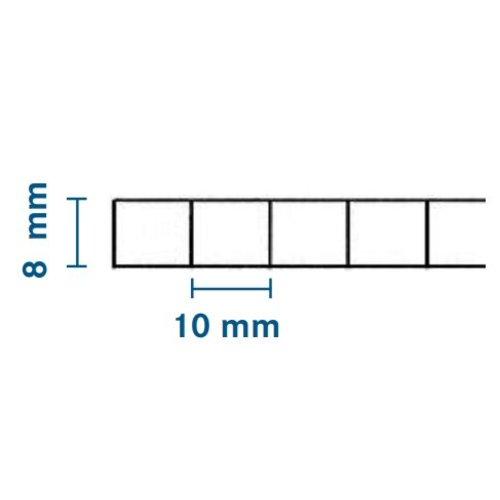 8mm PC Stegplatten - Farblos - WILKULUX®