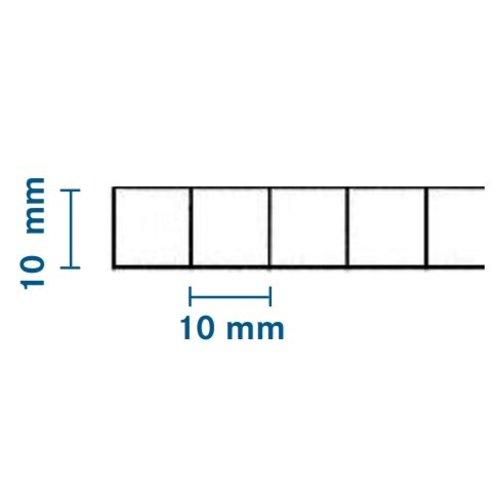 10mm PC Stegplatten - Opal-weiß - WILKULUX®