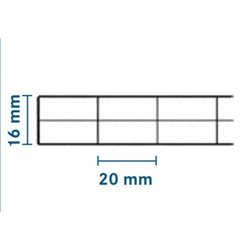 16mm PC Stegplatten - Glasklar - MARLON® Dreifachstegplatten