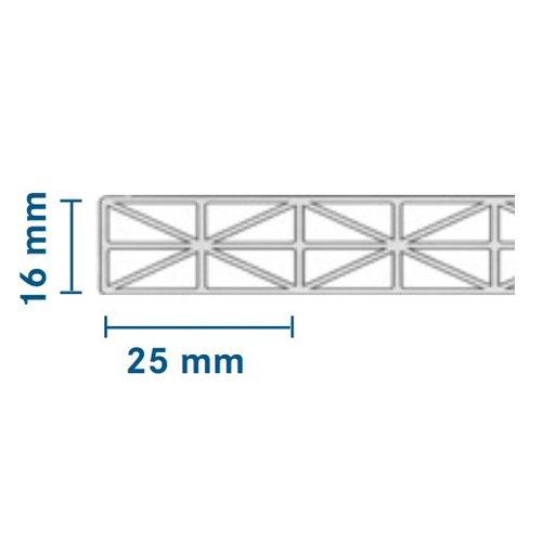 16mm PC Stegplatten - Opal-weiß - MAKROLON® IQ Relax