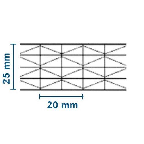 25mm PC Stegplatten - Opal-weiß - MAKROLON® IQ Relax