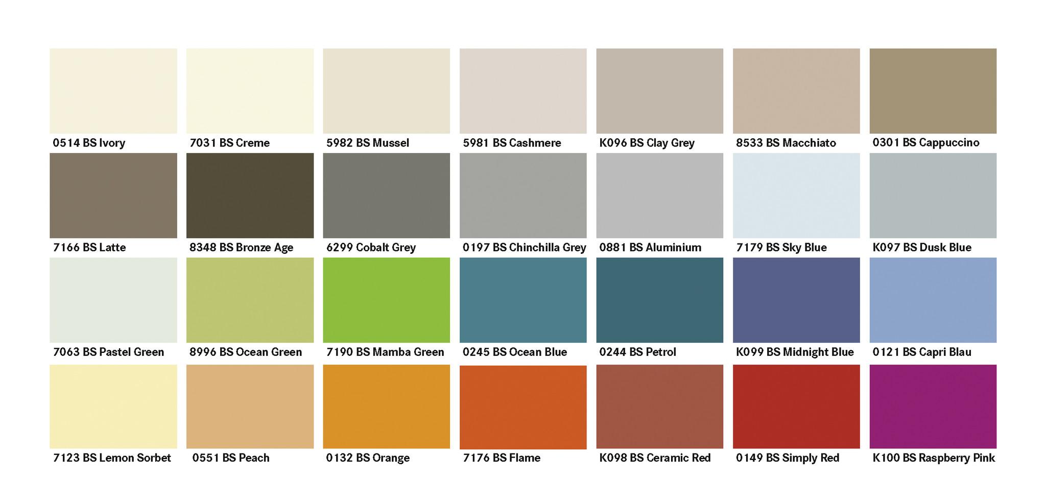 Farben Kronopart® COLOR Fertigungsprogramm