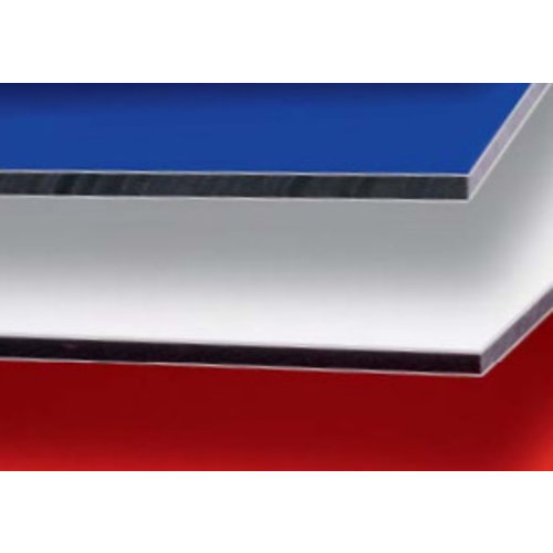 3mm ALUCOM® Alu Verbundplatten - Edelstahl beidseitig gebürstet