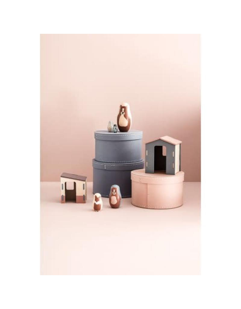Storage Box Round 2-Set Pink