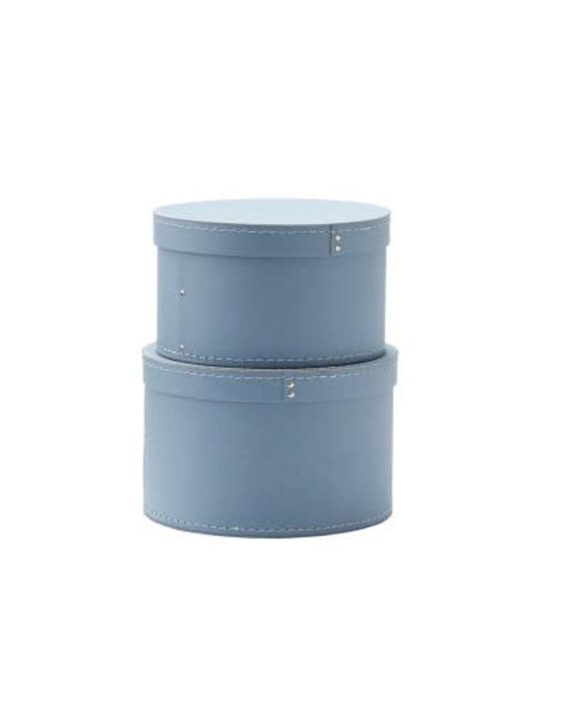 Storage Box Round 2-Set Blue