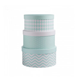 KIDS CONCEPT Mint Round Boxes