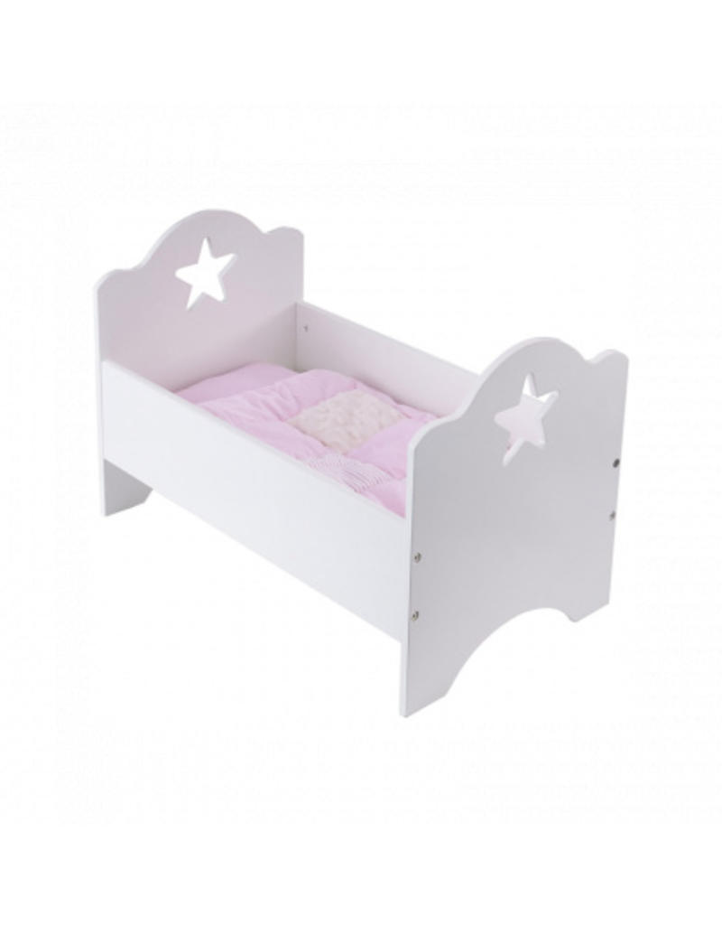 Dolls Bed Star White