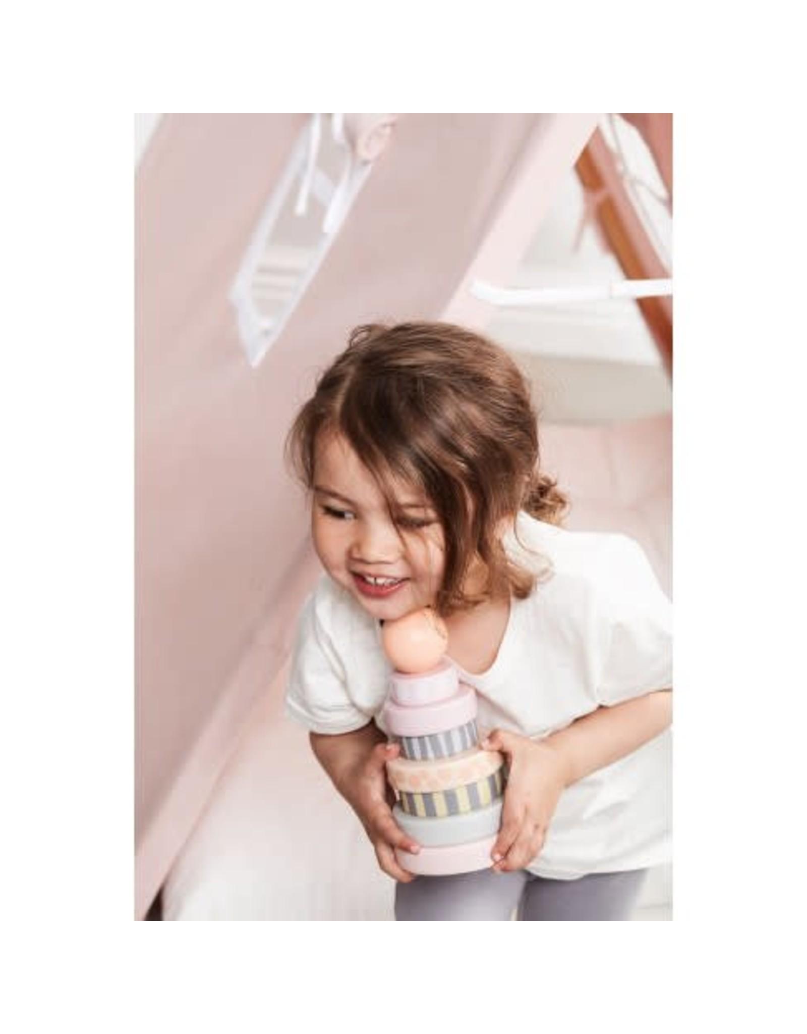 KIDS CONCEPT Pink Stacking Rings