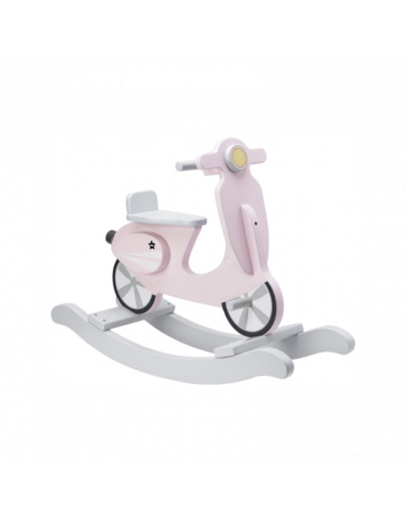 KIDS CONCEPT - Rocking Scooter Pink/White