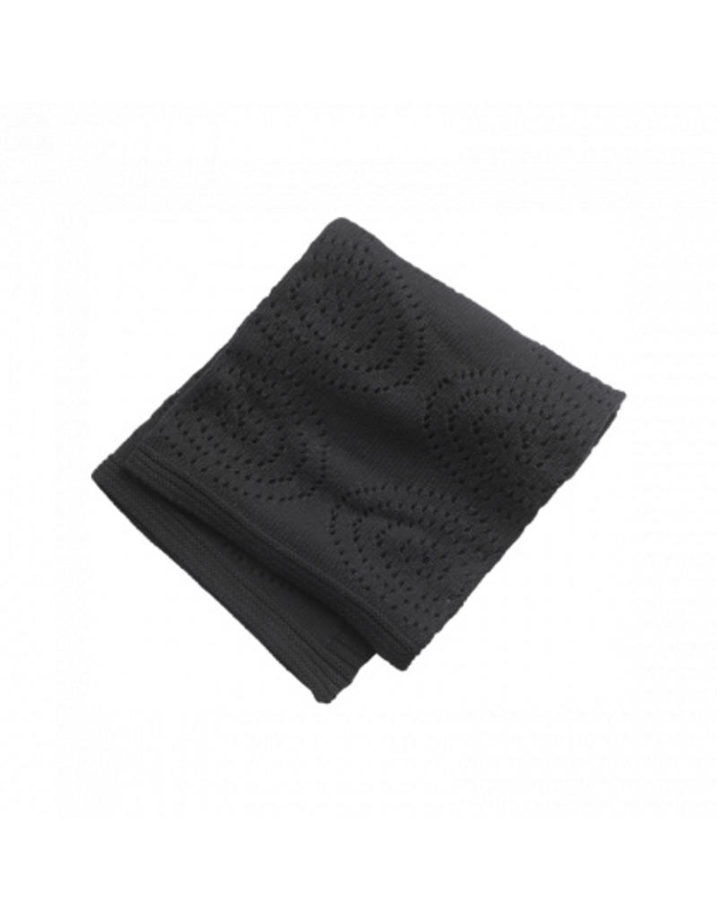 KIDS CONCEPT Black Cotton Blanket