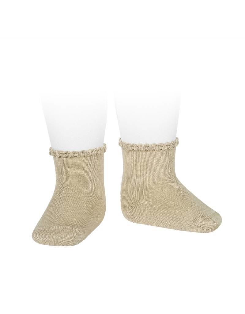 CONDOR Ceremony Pattern Cuff Short Socks - Rope
