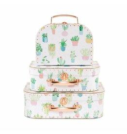 Set of 3 Cactus Suitcases