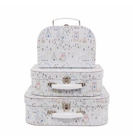 Set of 3 Bear Camp Suitcases