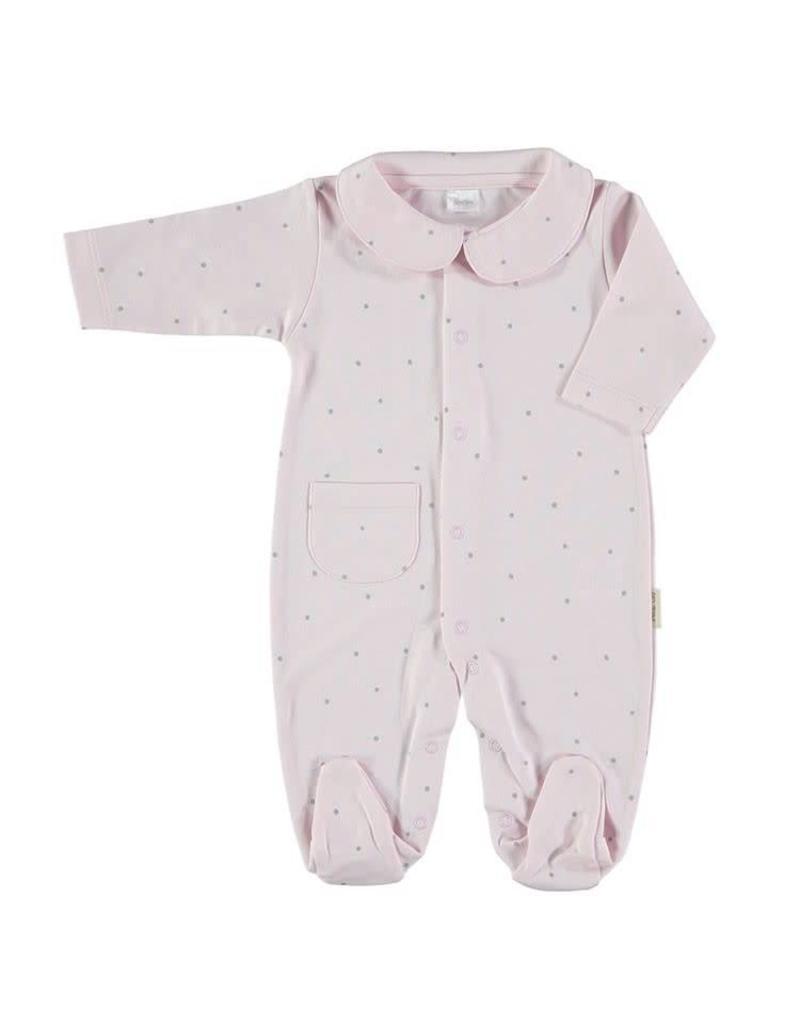 PETIT OH! Pink Dots Sleepsuit
