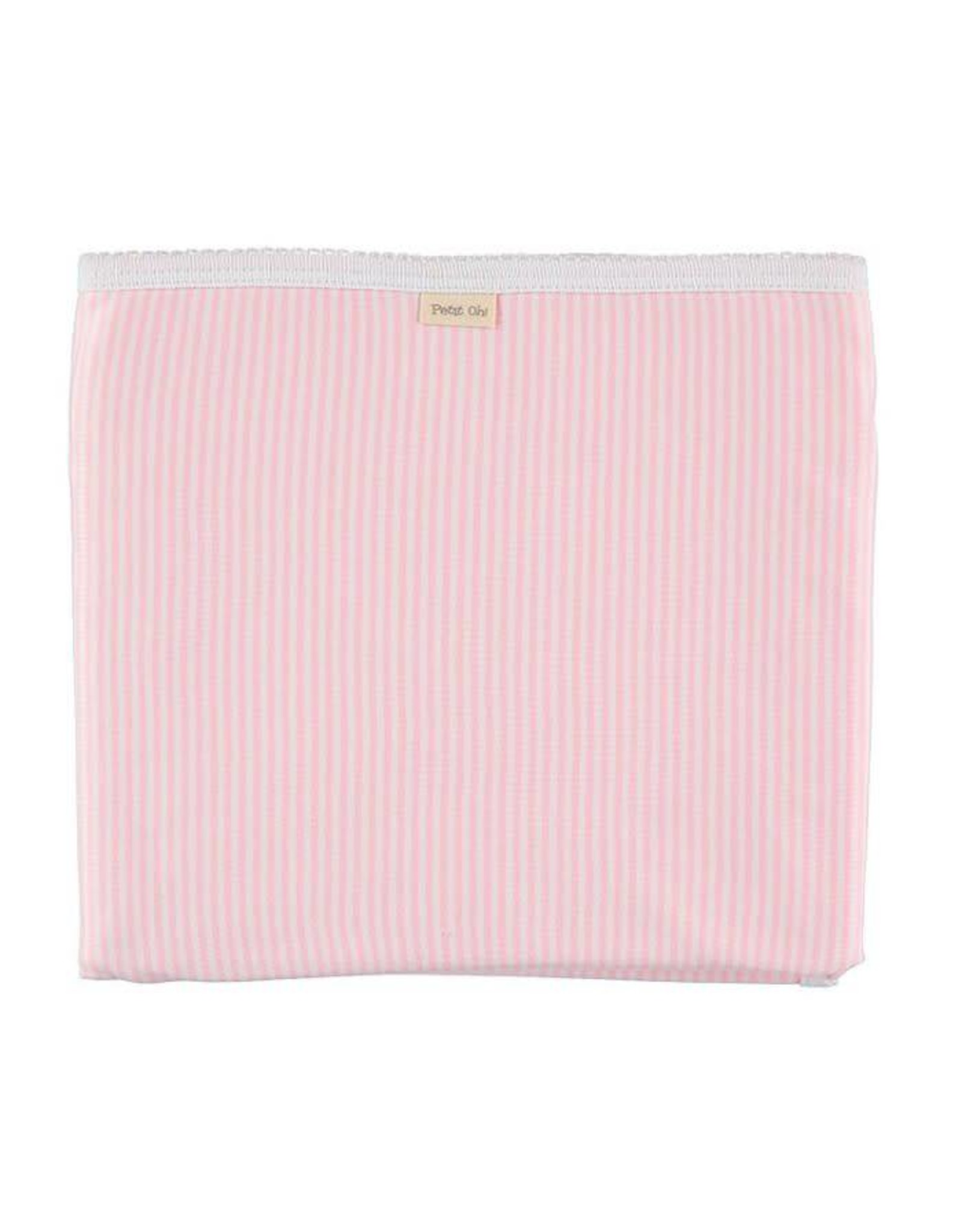PETIT OH! Pink Stripe Cotton Blanket
