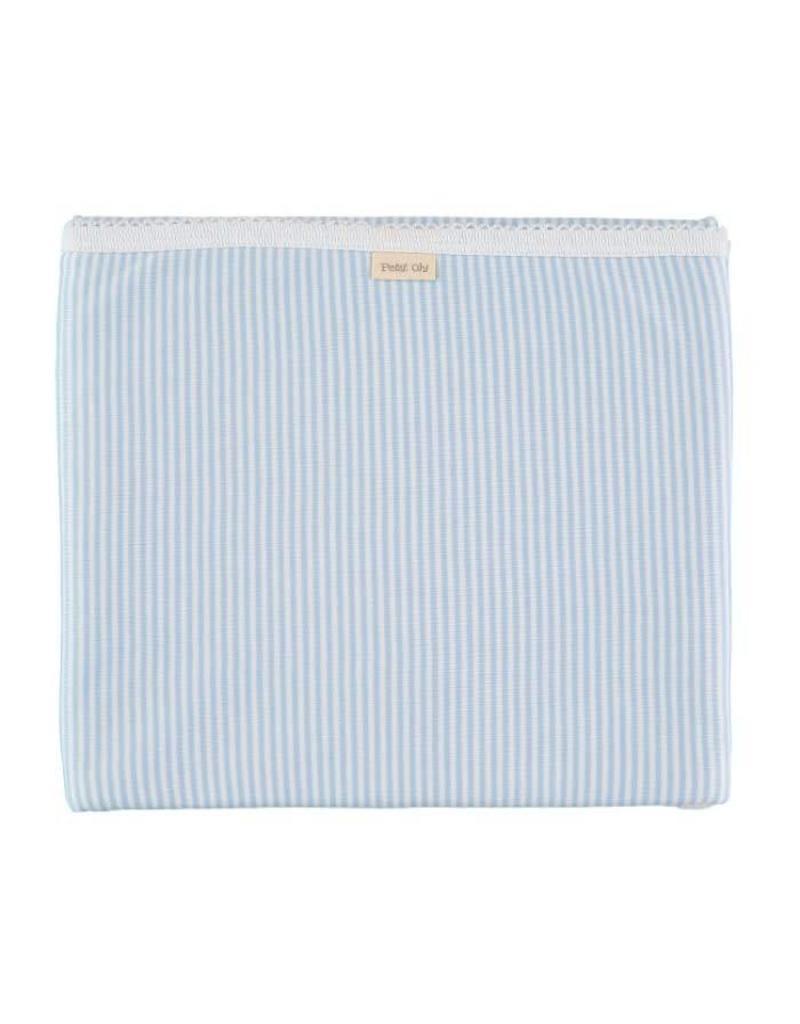 Cotton Blanket - Blue Stripe
