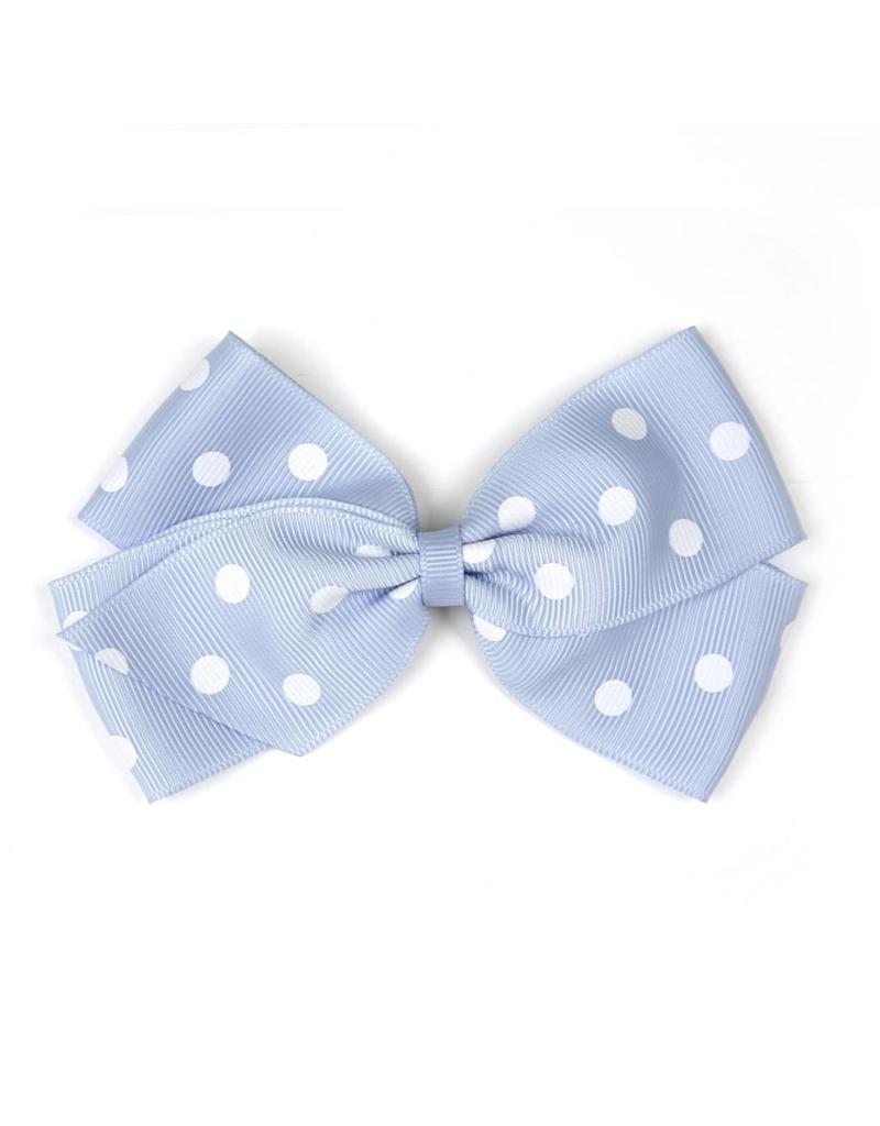Large Bluebell Polka Dot Hair Clip