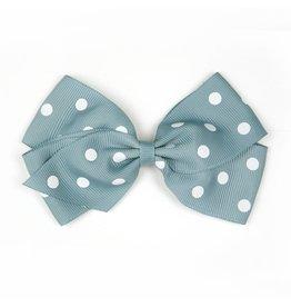 Large Nile Blue Polka Dot Hair Clip