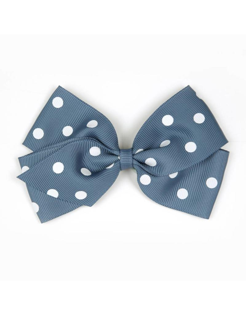Large Antique Blue Polka Dot Hair Clip
