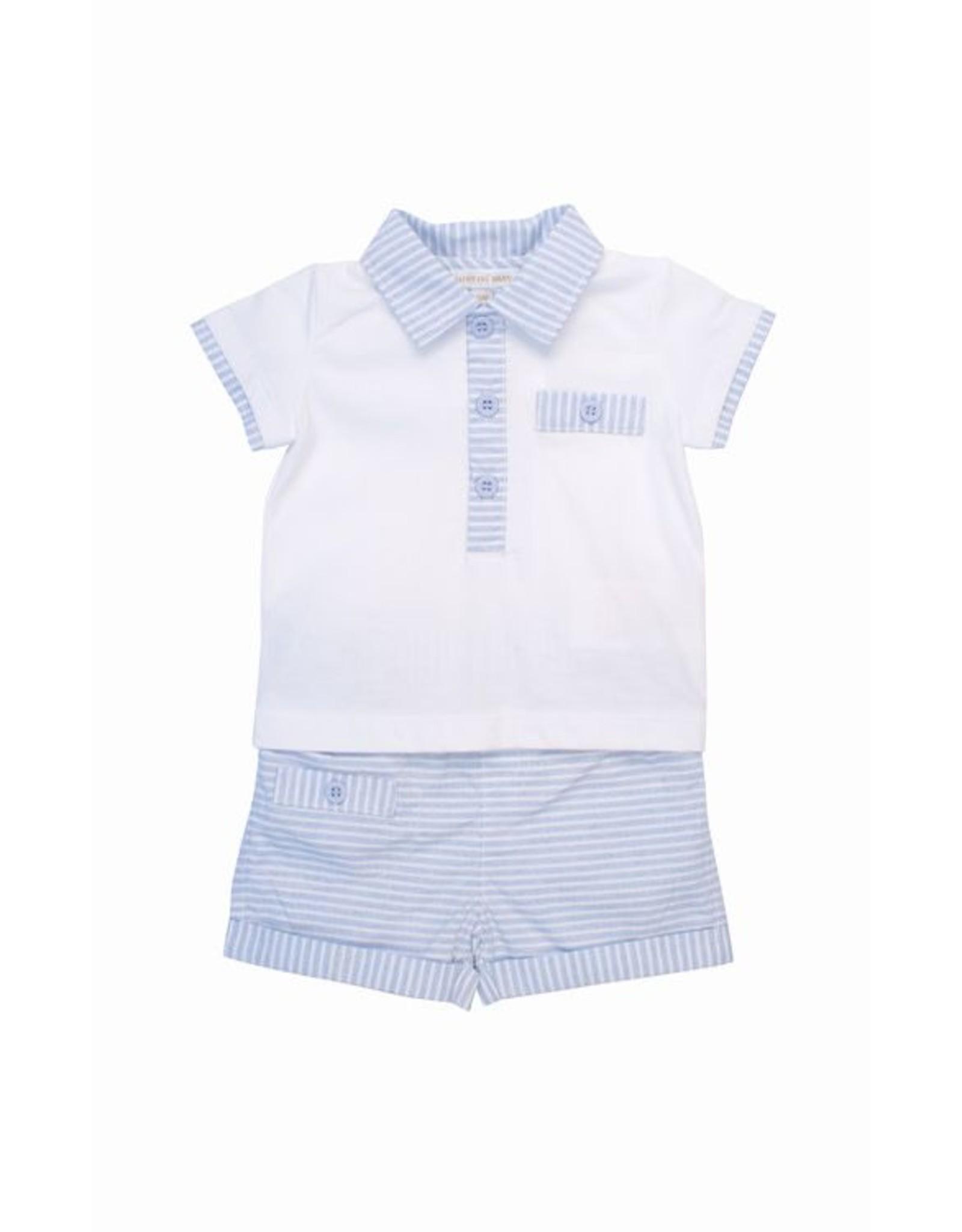 MINTINI Blue & White Striped Set