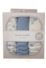 Blue Swaddle Cloths