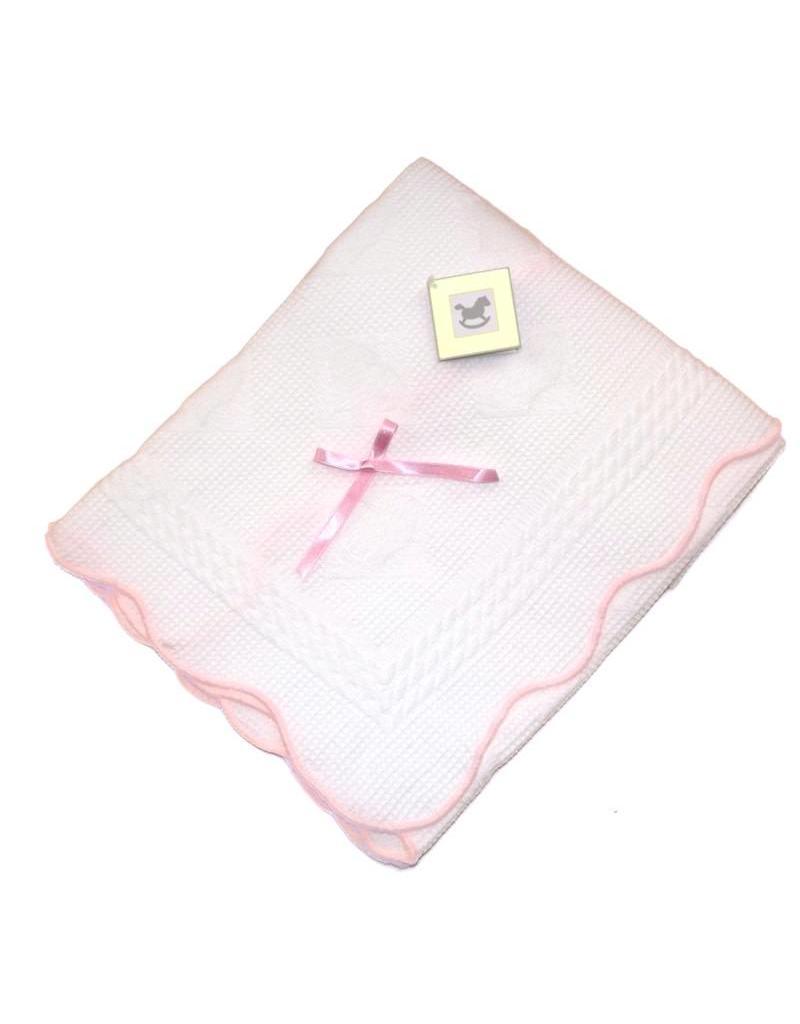 Pink Bow Shawl