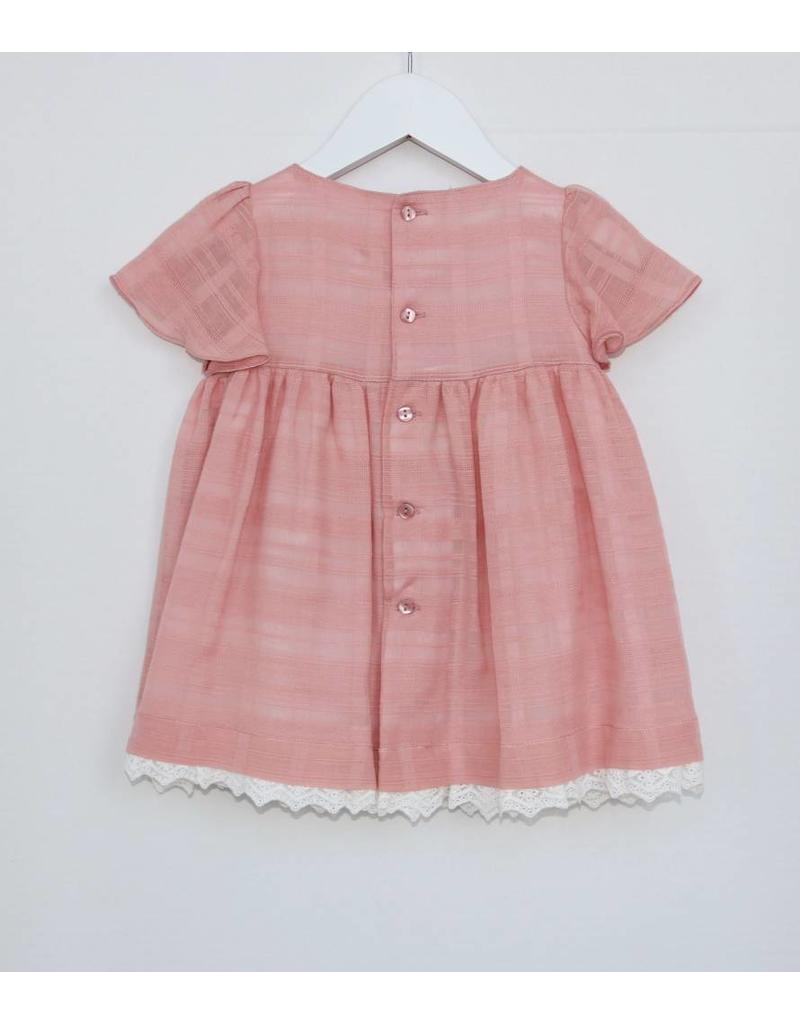 FINA EJERIQUE Soft Pink Dress with Bow