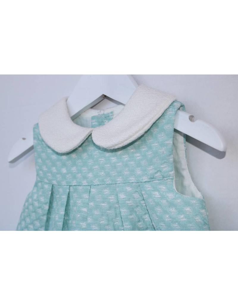 FINA EJERIQUE Mint Green with Cream Collar