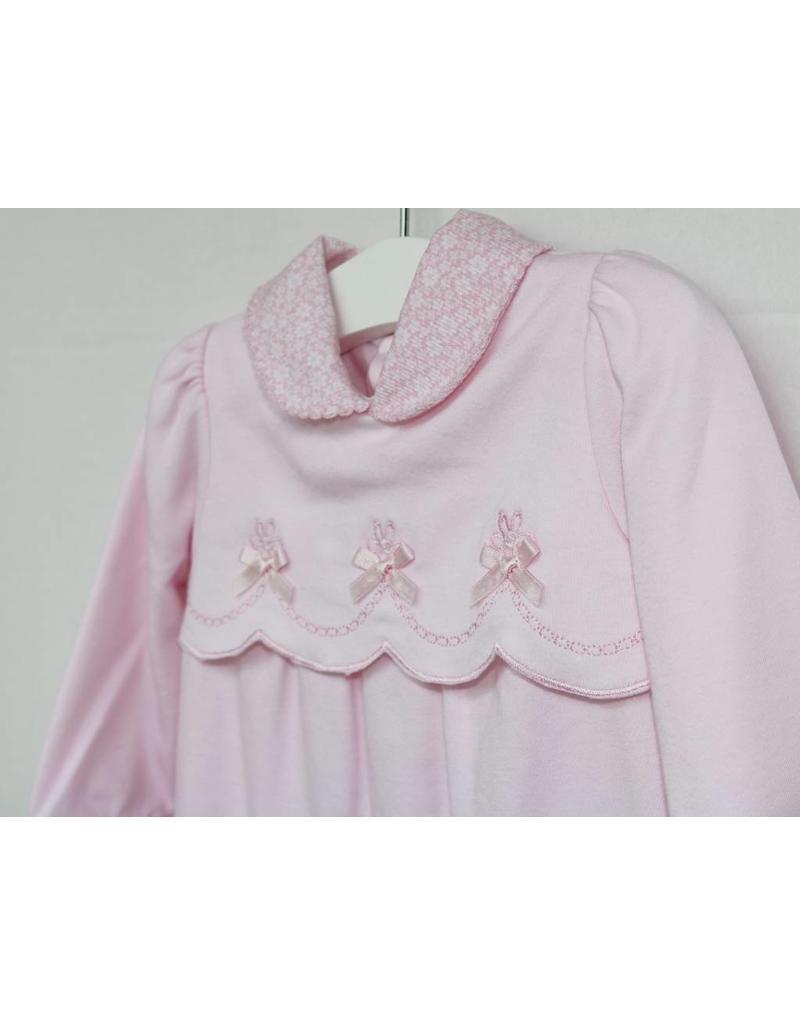 Pink Scalloped Babygrow