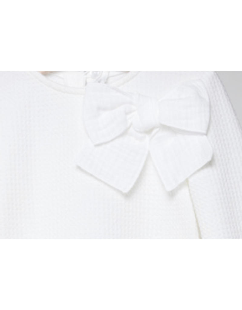 FINA EJERIQUE Girls White Sweater with Bow