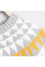 DADATI Grey Sweater with Motif