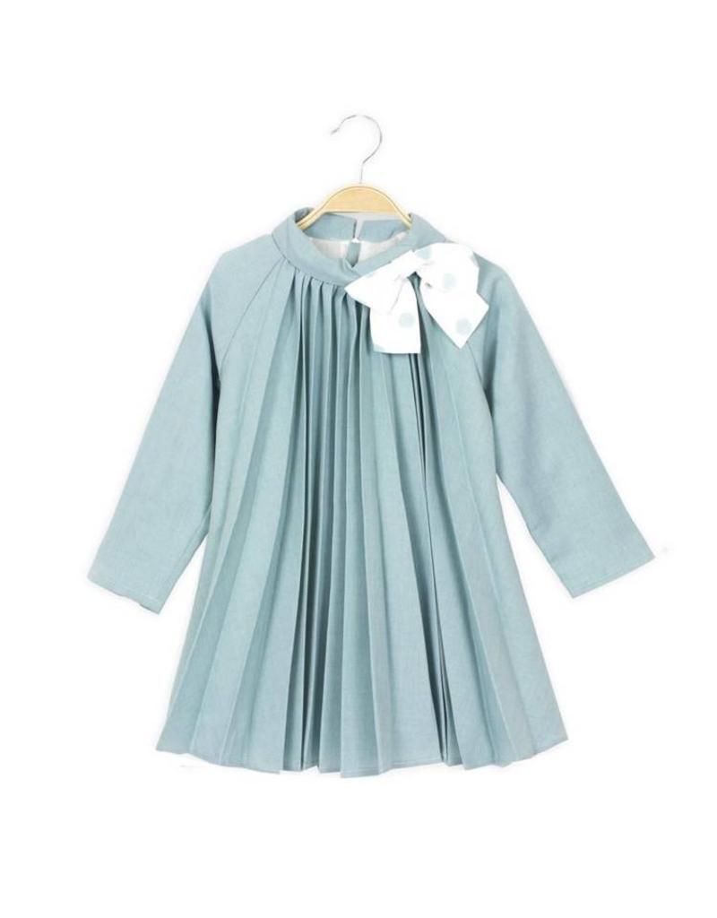 DADATI Pleated Mint Dress