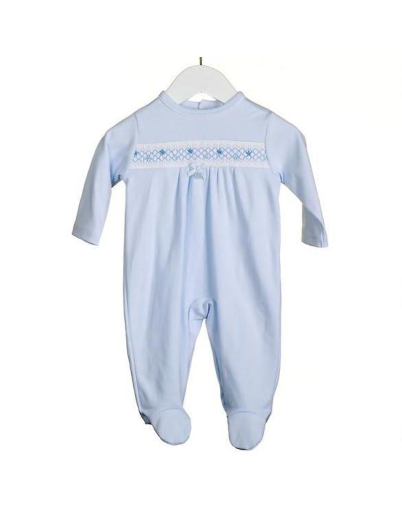 Blue Smocked Babygrow
