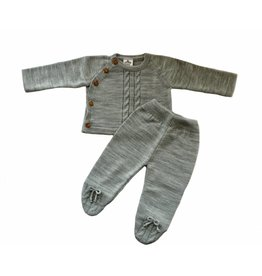 MINHON Grey Knitted Set