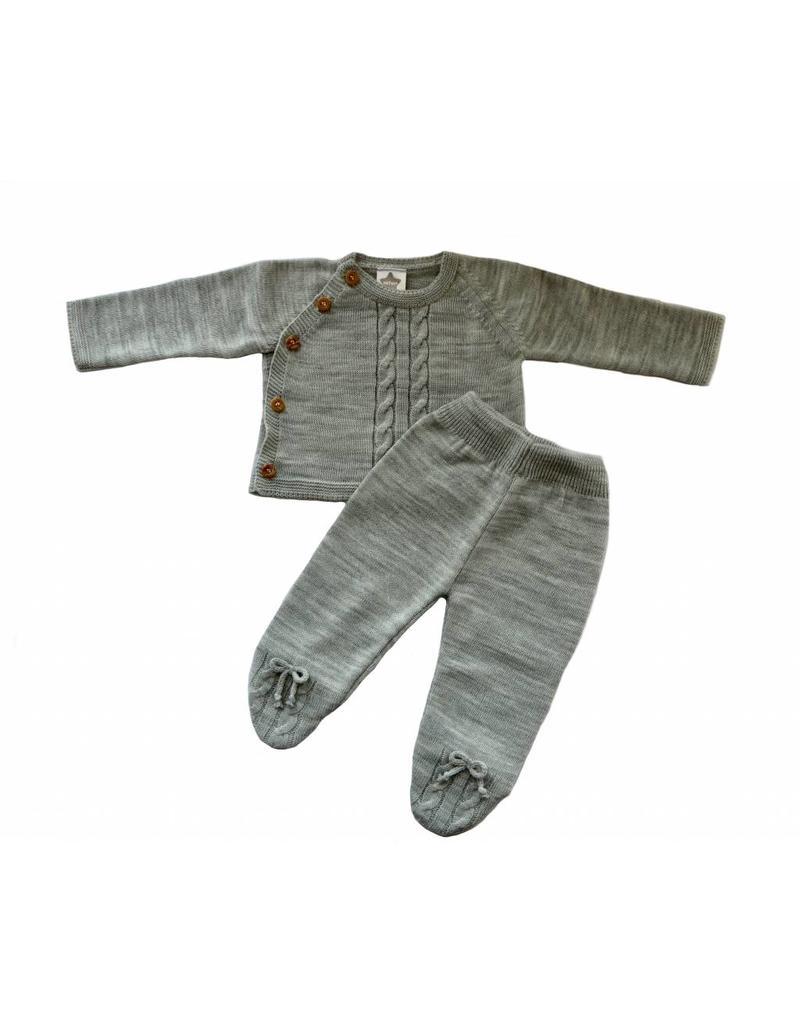 MINHON Grey Knitted Set