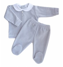 MINHON Grey Velour Set