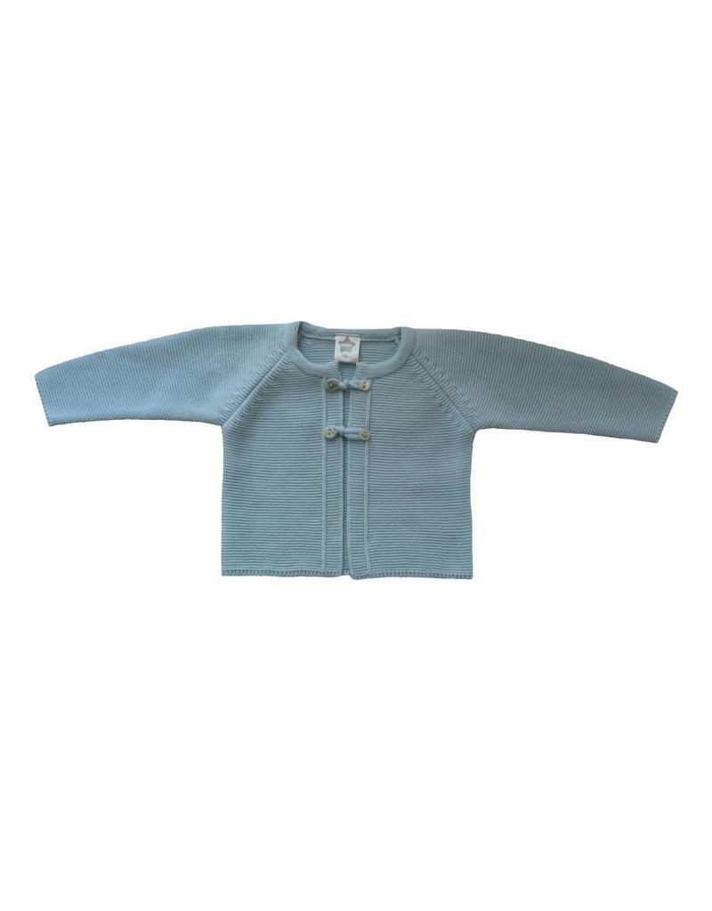 MINHON Pale Blue Knitted Cardigan