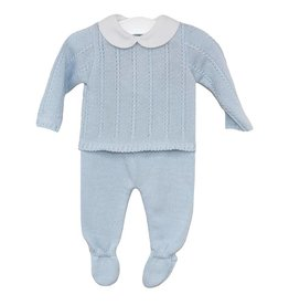 Blue Knitted Outfit