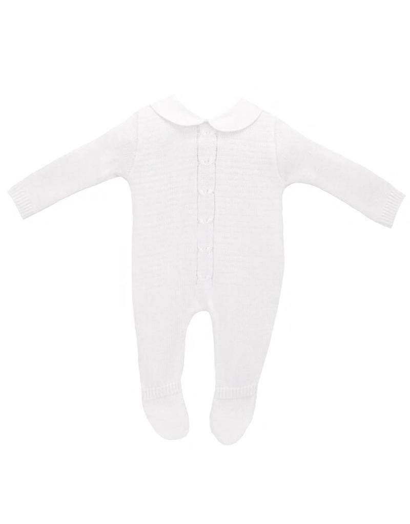 White Knitted Babygrow