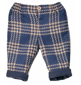 FINA EJERIQUE Boys Dark Blue Check Trousers