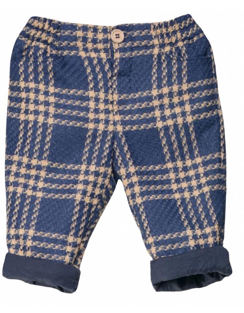 FINA EJERIQUE Boys Dark Blue Check Trousers