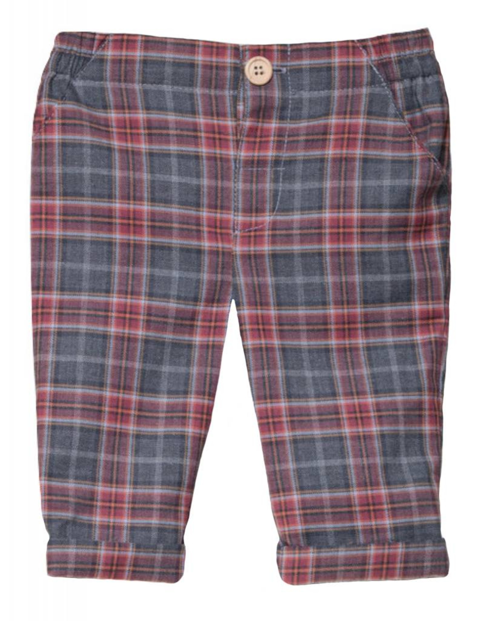 FINA EJERIQUE Grey with Red Check Trousers