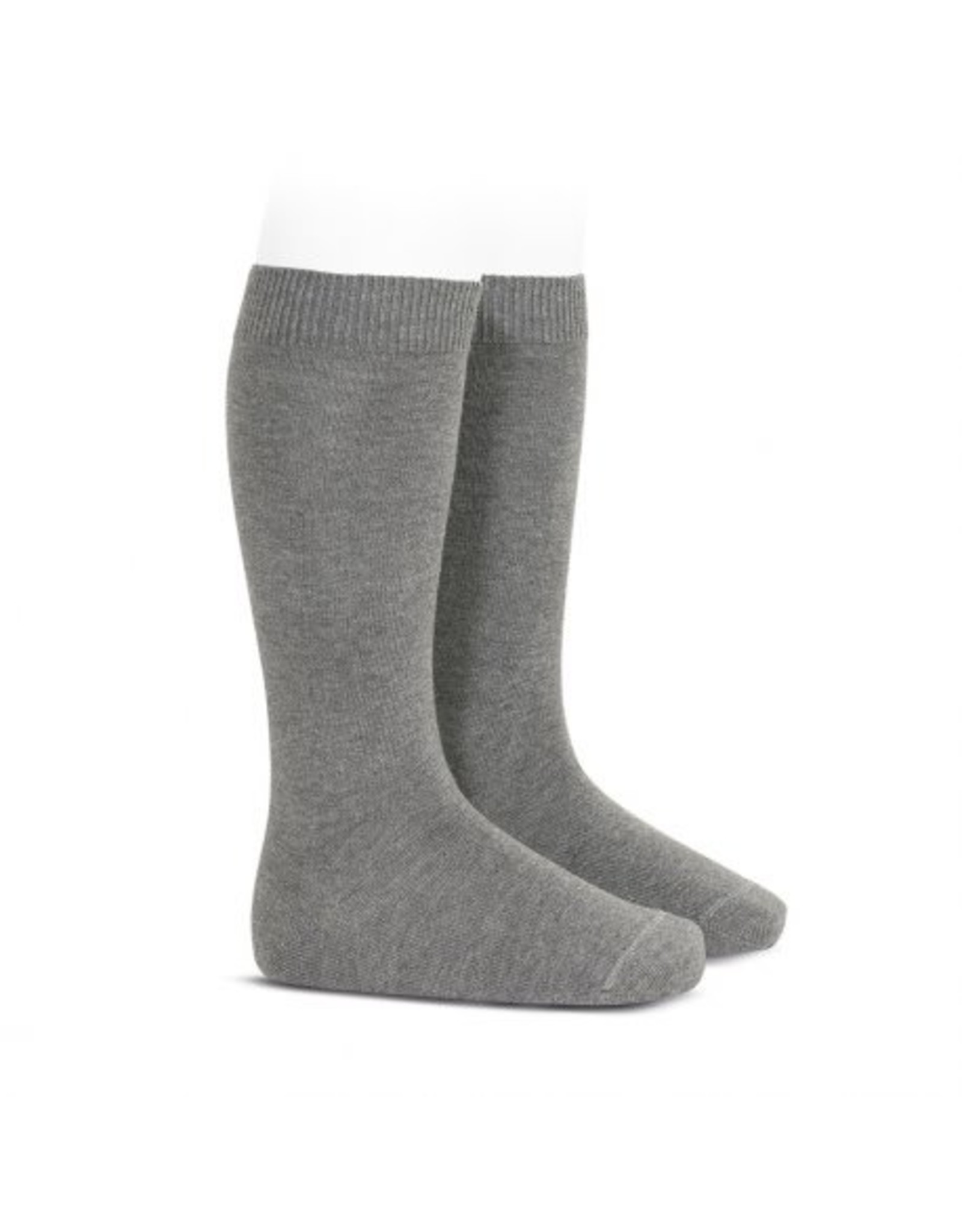 CONDOR Light Grey Plain Knee High Socks