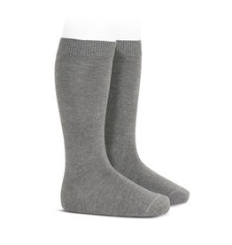CONDOR Light Grey Plain Knee High Socks