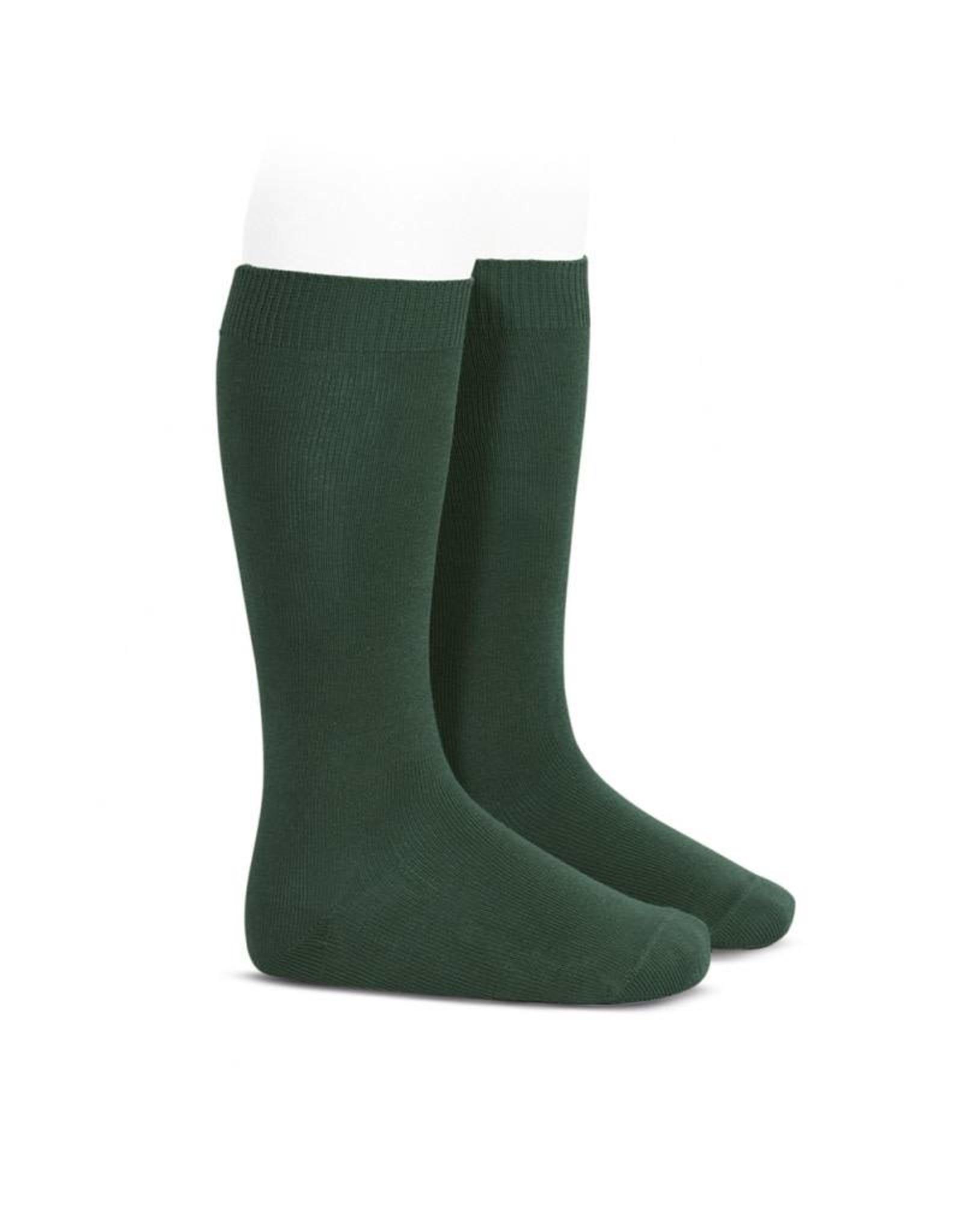 CONDOR Bottle Green Plain Knee High Socks