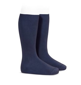 CONDOR Navy Plain Knee High Socks