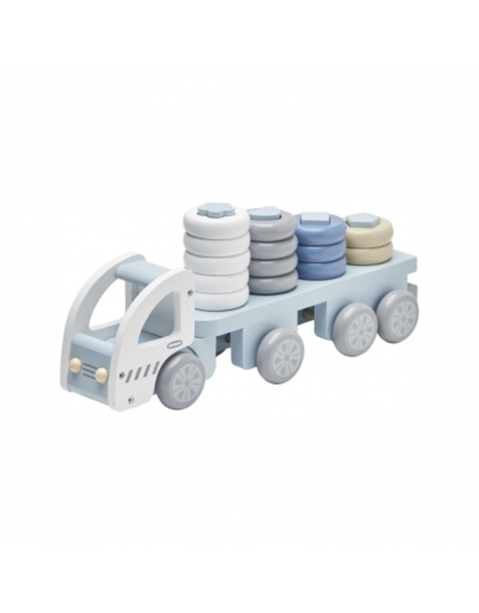 KIDS CONCEPT Blue Stacking Ring Truck
