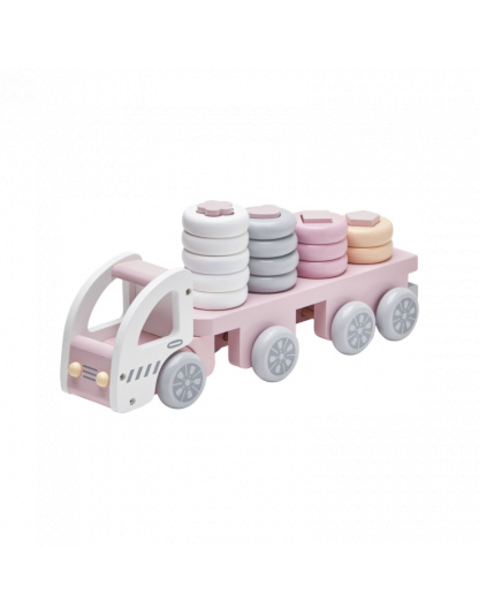 KIDS CONCEPT Pink Stacking Ring Truck